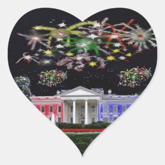 God Bless America Heart Sticker