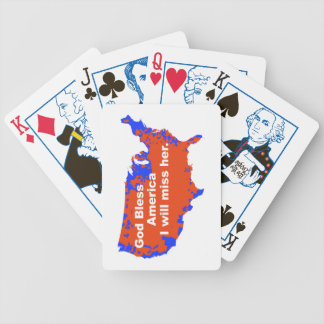 God Bless America, I will miss Her - 2012 Election Bicycle Playing Cards