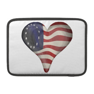 God Bless America In A Heart MacBook Air Sleeves