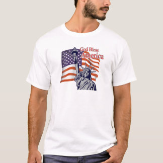 God Bless America July 4th T-Shirt