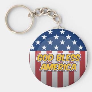God Bless America Key Chain