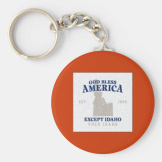 God bless america keychain` basic round button keychain