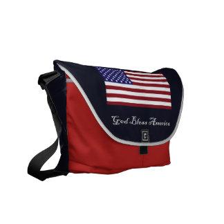 God Bless America Messenger Bag