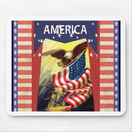 God Bless America Mouse Pad