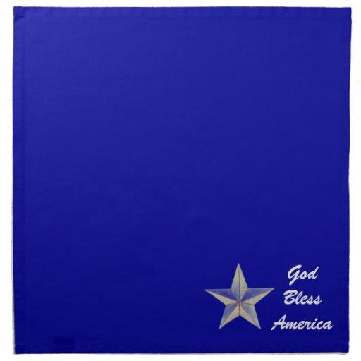 God Bless America Napkins