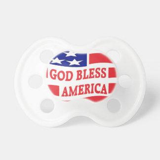 GOD BLESS AMERICA PACIFIER