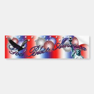God Bless America Patriotic America Bumper Sticker