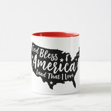 USA Themed God Bless America Patriotic Mug