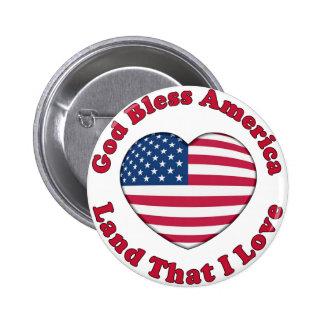 God Bless America Pinback Button