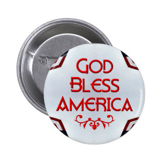 God bless America Pinback Buttons