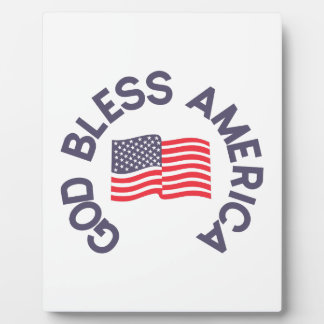 God Bless America Plaque
