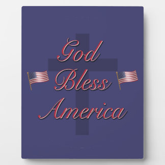 God Bless America Display Plaque