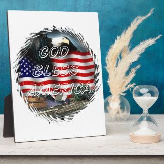 God bless america Plaque (3) sizes