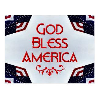 God bless America Post Card