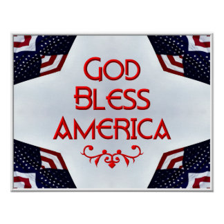 God bless America Print