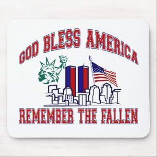 GOD BLESS AMERICA REMEMBER THE FALLEN MOUSE PAD
