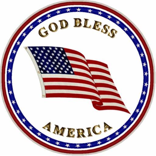 God Bless America Standing Photo Sculpture