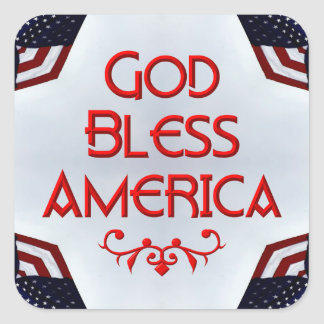 God bless America Stickers