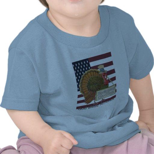 God Bless America Thanksgiving Baby T-shirt