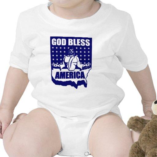 GOD BLESS AMERICA ROMPERS