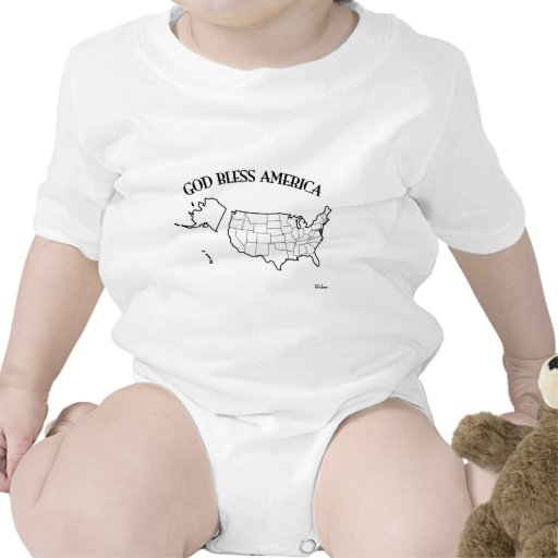 GOD BLESS AMERICA with US outline Romper
