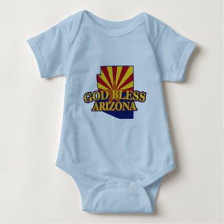 God Bless Arizona Baby Bodysuit