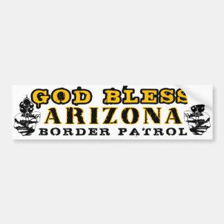 God Bless Arizona Bumper Sticker