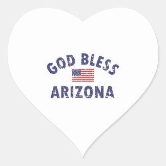 God bless ARIZONA Heart Sticker