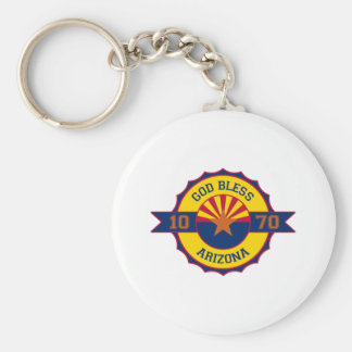 God bless Arizona Keychain