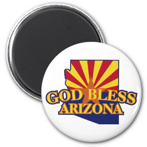 God Bless Arizona Magnets