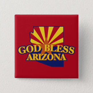 God Bless Arizona Pinback Button