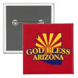 God Bless Arizona Pinback Button