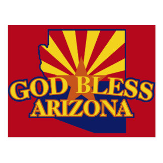 God Bless Arizona Postcard