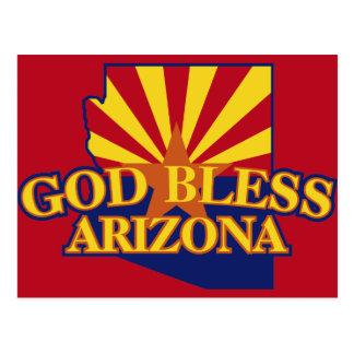 God Bless Arizona Postcard