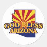 God Bless Arizona Sticker
