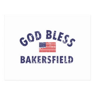 God bless BAKERSFIELD Postcard