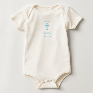 God Bless  |  Boy Christening Baby Creeper