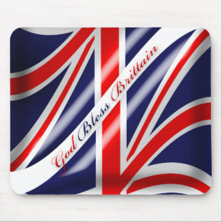 God Bless Brittain Union Jack Brittish Flag Mousep Mouse Pad