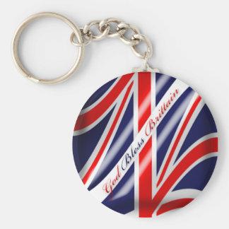 God Bless Brittain Unoin Jack Brittish Flag Keycha Key Chains