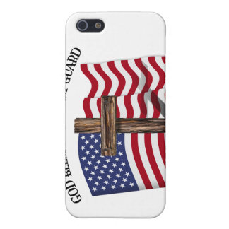 GOD BLESS COAST GUARD with rugged cross & US flag Case For iPhone SE/5/5s