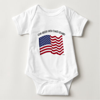 GOD BLESS COAST GUARD with & US flag Shirts