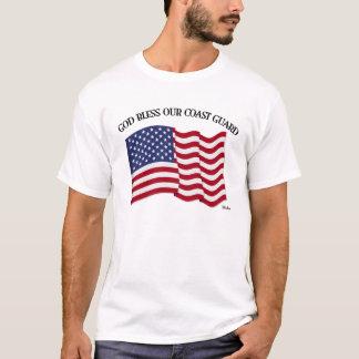 GOD BLESS COAST GUARD with & US flag T-Shirt