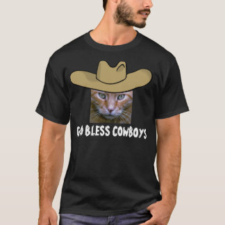 God Bless Cowboys T-shirts, Cats T-Shirt