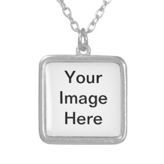 God Bless Cowgirls! Square Pendant Necklace