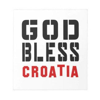 God Bless Croatia Note Pads