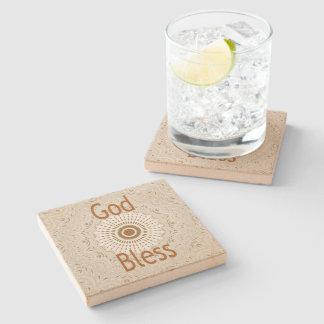 God Bless Custom Sandstone Coasters