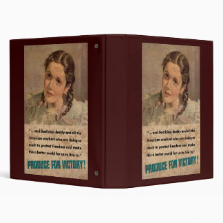 God Bless Daddy Produce For Victory 3 Ring Binder