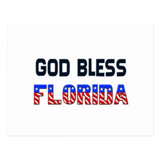 God Bless Florida Postcard