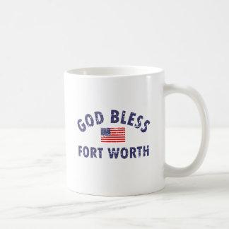 God bless FORT WORTH Coffee Mug