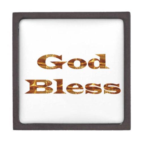 GOD Bless -  Golden Script Best Gift all occasions Premium Trinket Boxes